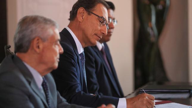 """Presidente Vizcarra: """"Promulgación de Ley Orgánica de la Junta Nacional de Justicia es un acto de trascendencia para el Perú"""""""