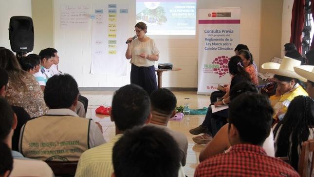 Organizaciones indígenas se reúnen en Amazonas para analizar propuesta de Reglamento de Ley sobre Cambio Climático