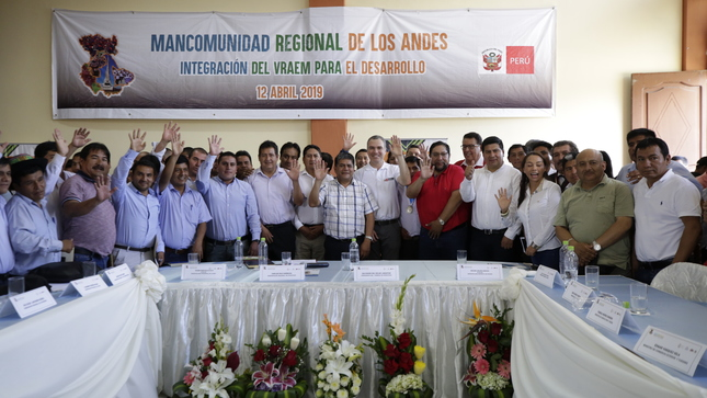 Jefe del Gabinete anunció en el VRAEM una nueva dinámica para priorizar las agendas de desarrollo regionales