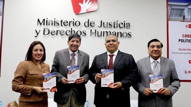 MINJUSDH presenta 13° edición de la Constitución Política del Perú con reformas ratificadas mediante referéndum