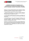 Ver informe Instalación de puesto de vacunación en los establecimientos de salud para el Barrido Nacional contra el Sarampión, Rubeola, Poliomielitis y Parotiditis