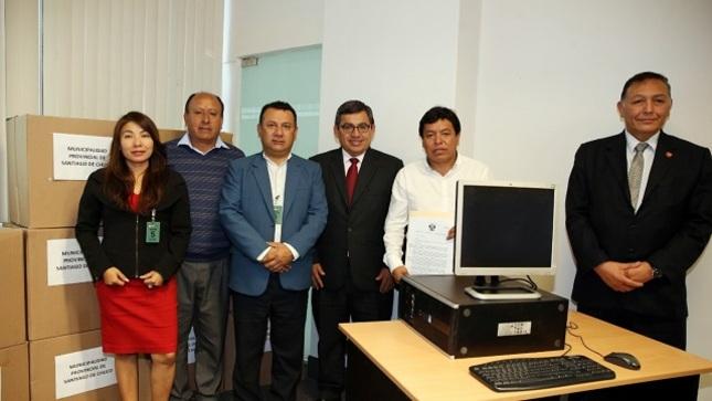 MTPE dona equipos de cómputo a la municipalidad provincial de Santiago de Chuco, ubicada en la región La Libertad.