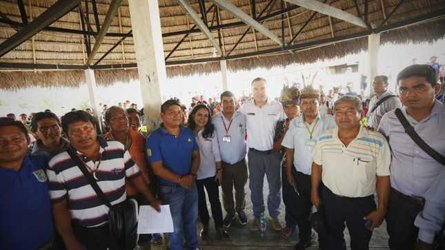 Salvador del Solar reafirmó el compromiso del Gobierno con el desarrollo de las comunidades de cuatro cuencas en Loreto