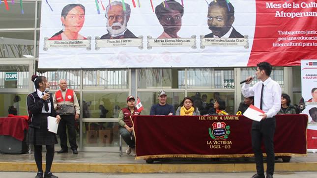 Cultura afroperuana es  valorada en los colegios