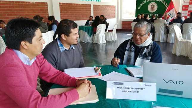 Más de 130 mil cajamarquinos se beneficiarán con intervenciones del MTC en la región