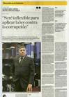 Ver informe Entrevista al ministro de Defensa, Jorge Moscoso Flores, en el diario El Comercio