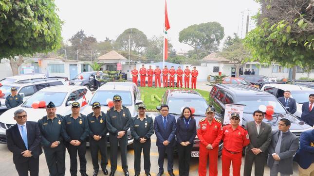 MINJUSDH entrega vehículos a la Policía Nacional para  reforzar labores de inteligencia y lucha contra la criminalidad