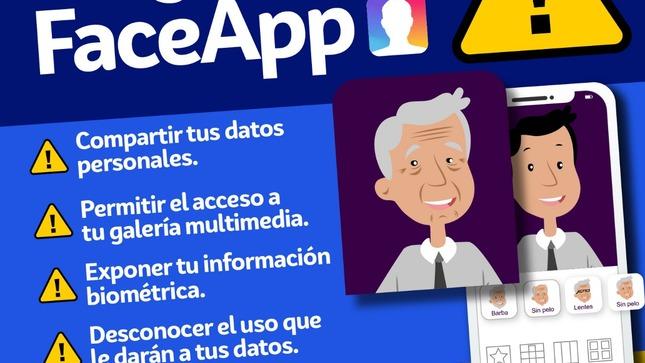 """Autoridad de Protección de Datos Personales  advierte sobre uso de la APP """"que te hace viejo"""""""