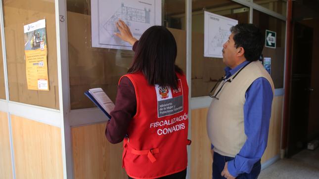 El Conadis realizó acciones de fiscalización sobre accesibilidad en el Gobierno Regional de Cajamarca