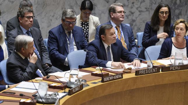 Canciller presidió debate en el Consejo de Seguridad de la ONU