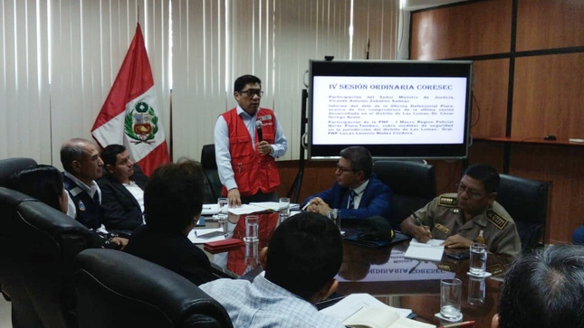 Ministro Vicente Zeballos plantea que INPE y Centros Juveniles integren CORESEC Piura