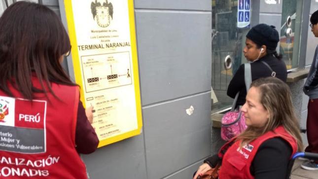 El Conadis inspecciona la accesibilidad física en la edificación y transporte en la estación Naranjal del Metropolitano