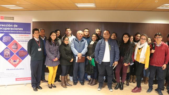 Ministerio de Cultura realizó taller informativo para obtener Certificado de Bienes no Pertenecientes al Patrimonio Cultural para evitar tráfico ilícito
