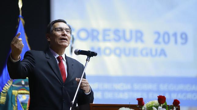 Presidente Vizcarra: Esperamos que antes que concluya setiembre el Pleno del Congreso tome una decisión sobre el adelanto de elecciones