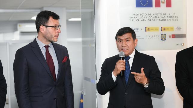 Mininter y Unión Europea refuerzan capacitación policial en lucha contras las drogas y el crimen organizado