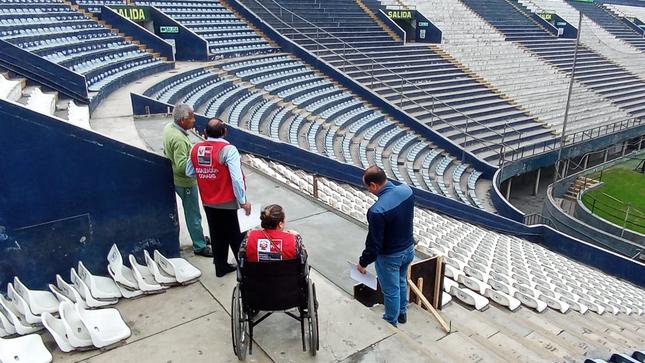 """El Conadis inspecciona accesibilidad para personas con discapacidad en el Estadio """"Alejandro Villanueva"""""""