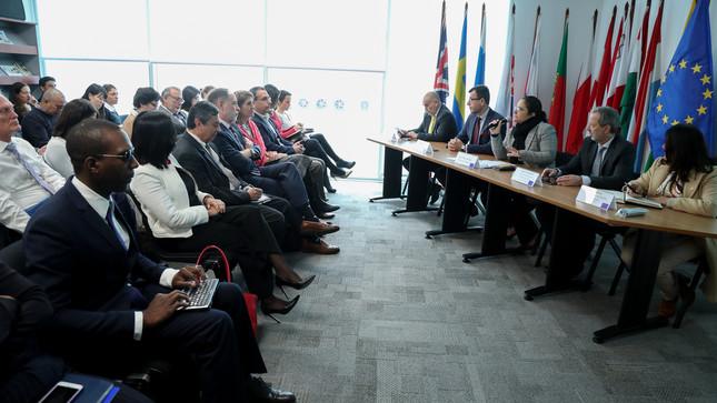 Ministra del Ambiente expuso prioridades y avances del sector ante representantes de la Unión Europea, embajadas y organismos de cooperación internacional