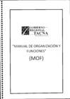 Vista preliminar de documento MANUAL DE ORGANIZACIÓN Y FUNCIONES (MOF) DEL GOBIERNO REGIONAL DE TACNA.