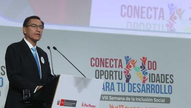 Presidente Martín Vizcarra: No puede haber verdadera inclusión social sin ciudadanía efectiva