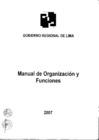 Vista preliminar de documento MANUAL DE ORGANIZACIÓN Y FUNCIONES (MOF) DEL GOBIERNO REGIONAL DE LIMA.