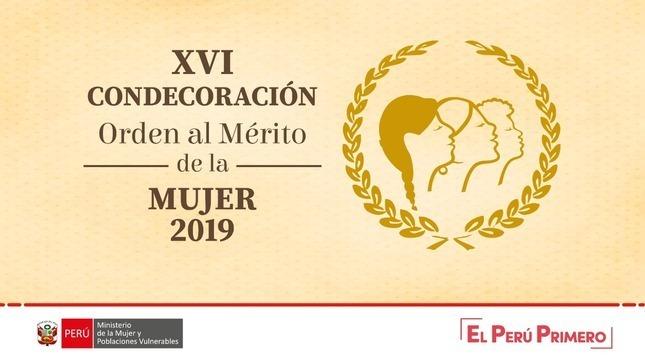 """Doce mujeres recibirán la condecoración """"Orden al Mérito de la Mujer"""" 2019"""