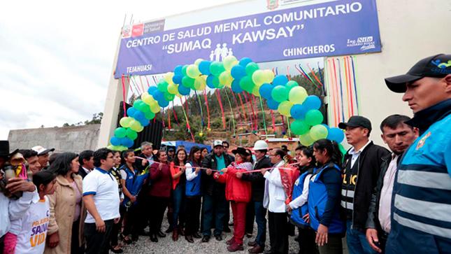 Minsa inaugura centro de salud mental comunitario que beneficiará a cerca de 60 mil habitantes en Chincheros Apurímac