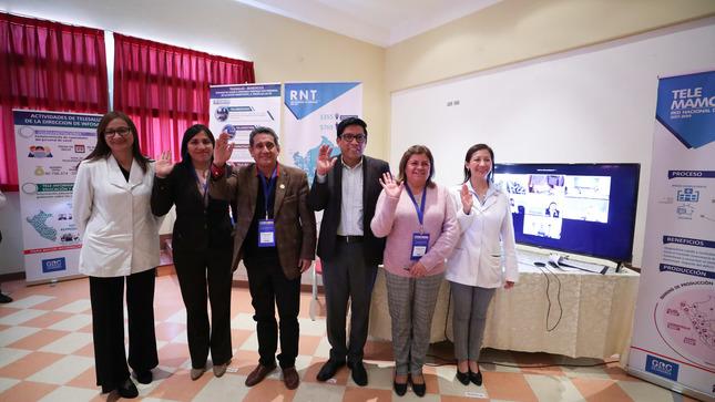 Vicente Zeballos participó en la demostración del servicio de telemedicina en Cajamarca