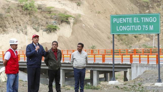 Cajamarca: presidente Martín Vizcarra puso en servicio el puente Tingo para mejorar la conectividad de 14 mil ciudadanos