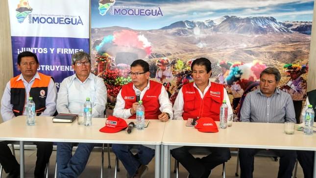Ministro Jorge Montenegro se reunió con alcaldes y expuso medidas de apoyo al agro de Moquegua