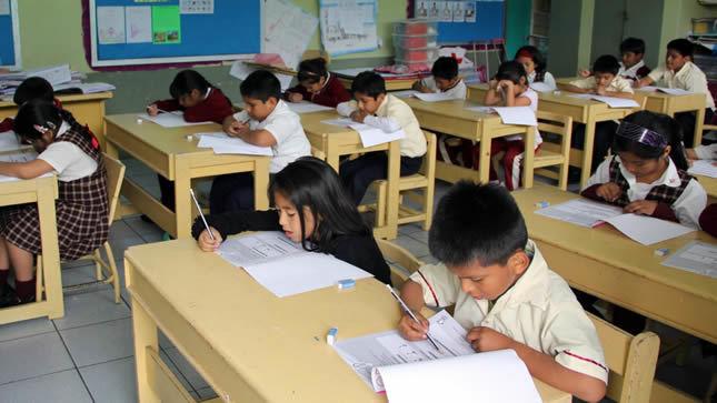 Más de 850 mil estudiantes serán evaluados este mes por el Minedu