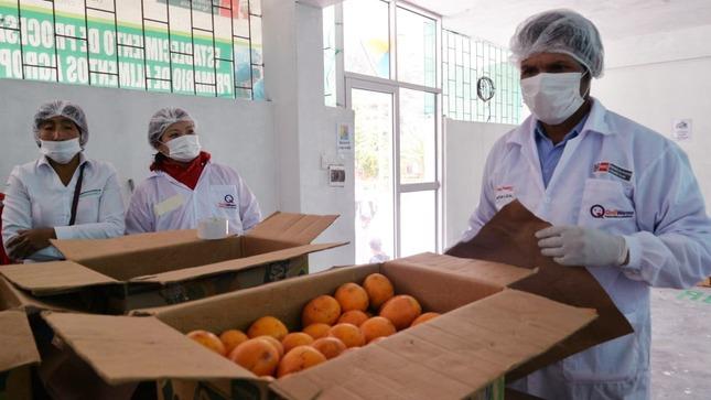 Midis incorpora productos frescos de pequeños agricultores de Junín en la alimentación escolar de Qali Warma