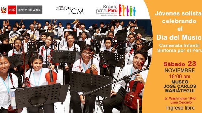 Jóvenes solistas celebrando el Día del Músico