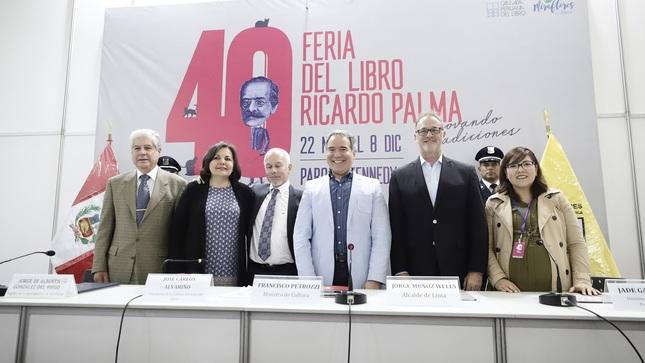 Ministro de Cultura participó en ceremonia de inauguración de la 40ª edición de la Feria del Libro Ricardo Palma