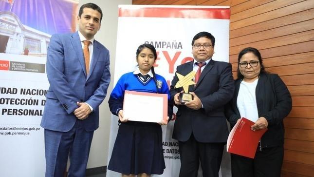 El MINJUSDH premia a ganadores del Primer Concurso Escolar de Dibujo e Historieta #Yocuidomisdatospersonales