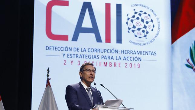 Presidente Martín Vizcarra: Lucha contra la corrupción es por el futuro y la viabilidad del Perú, e involucra a actores políticos y empresariales