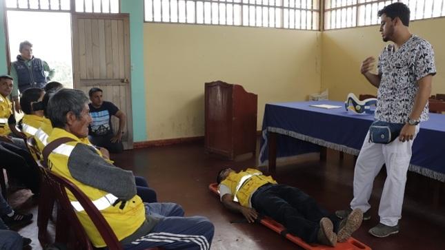 En Jepelacio capacitan a Brigadistas de Defensa Civil ante posibles casos de emergencia
