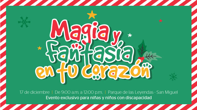 """Invitación a niñas y niños con discapacidad al evento navideño """"Magia y Fantasía en tu Corazón"""""""