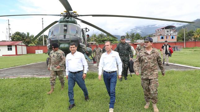 Ministros de Defensa e Interior fortalecen trabajo conjunto de Fuerzas Armadas y Policía en el Vraem