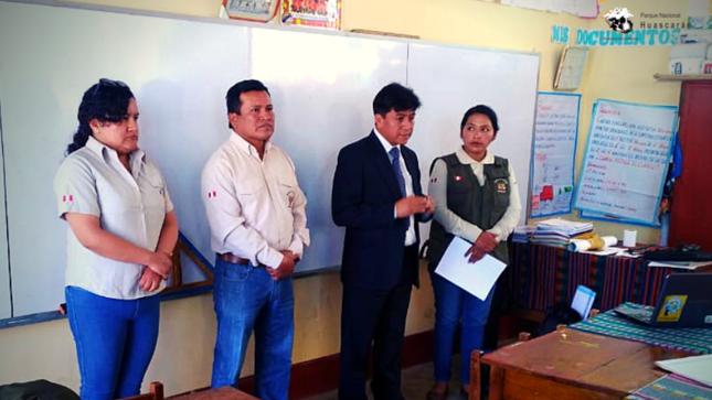 SERNANP inicia capacitación a docentes de Yungay para promover la conservación del PN Huascarán