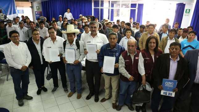 Ejecutivo impulsa articulación entre autoridades regionales y locales para garantizar agua segura en Cajamarca