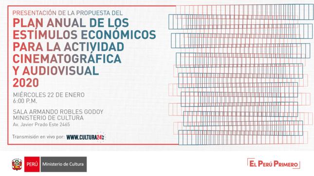 Ministerio de Cultura convoca a Estímulos Económicos para la Actividad Cinematográfica y Audiovisual