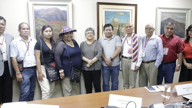 Ministerio de Cultura reafirma compromiso de continuar con  políticas en beneficio de pueblos originarios