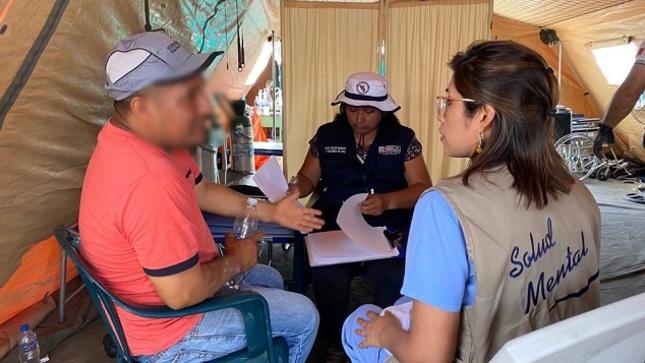 Salud Mental: un total de 433 atenciones se registraron en la zona del siniestro en VES