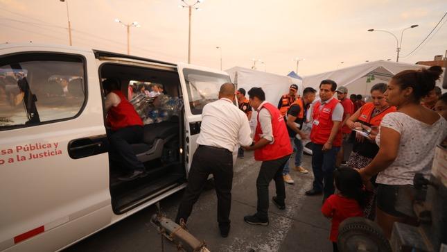 El MINJUSDH se hace presente con ayuda a familias  afectadas por deflagración de gas en Villa El Salvador