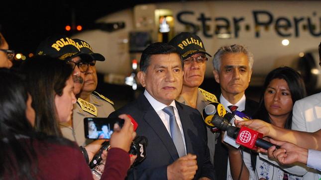 Ministro Morán supervisó expulsión de más de 130 venezolanos implicados en hechos delictivos en Perú