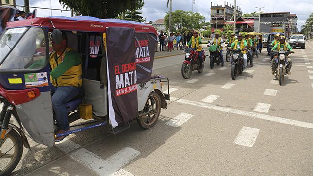 Cinco mil mototaxistas de Madre de Dios se suman a la lucha contra el dengue en la región