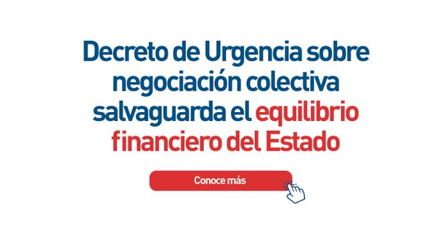 Decreto de Urgencia sobre negociación colectiva salvaguarda el equilibrio financiero del Estado