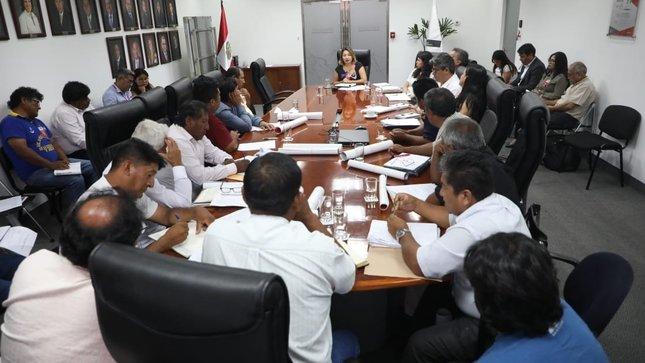 Reunión dirigentes de la Federación de Integración y Unificación de los Pescadores Artesanales del Perú (FIUPAP)