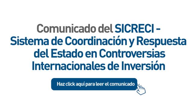 COMUNICADO SICRECI