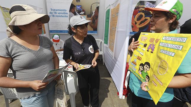Minsa lanza actividad 'La Tuberculosis sí se cura' en La Victoria